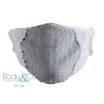 Body&Co Pack 5 pezzi, Fascia viso in tessuto waterproof con fibra d'argento, lavabile e riutilizzabile