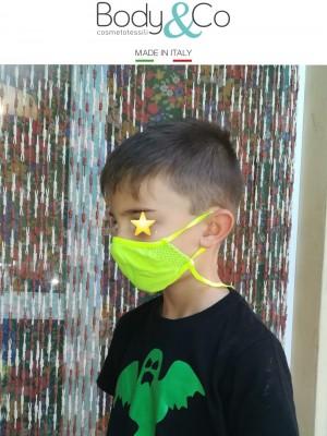 Pack 6 pezzi Fascia protettiva viso per bambini con laccetto regolatore e anticaduta