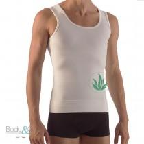 Canotta uomo modellante con fascia addominale e Aloe Vera