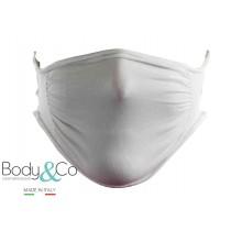 Body&Co Pack 5 pezzi, Fascia viso protettiva idrorepellente prodotta in tessuto di poliammide, lavabile e riutilizzabile
