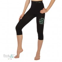 Sports Capri with fat burning caffeine microcapsules