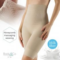 Shaping and massaging short with biologic milk yarn